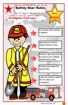 Match clipart safety rule Poster Fire safety Playground Helper