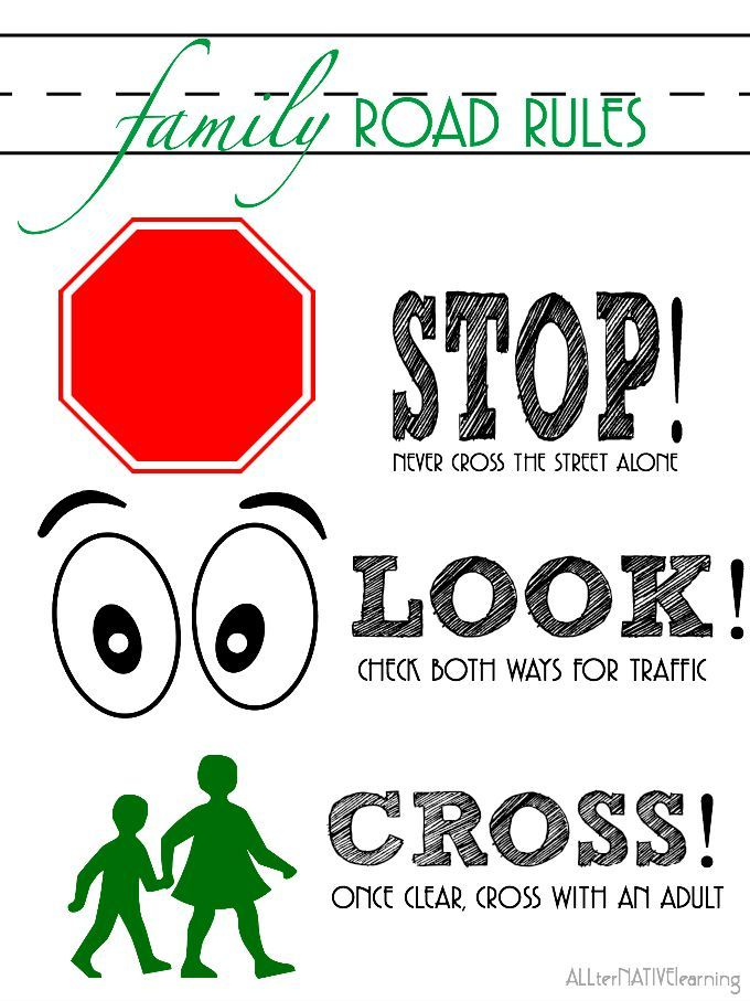 Match clipart safety rule Preschoolers Road to Pinterest the