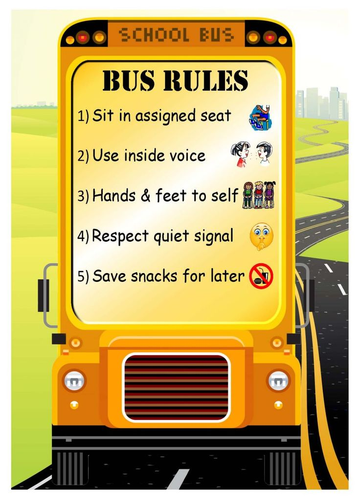 Match clipart safety rule Best rules bus School Pinterest
