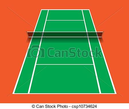 Match clipart tennis court Csp10734624 abstract  of vector