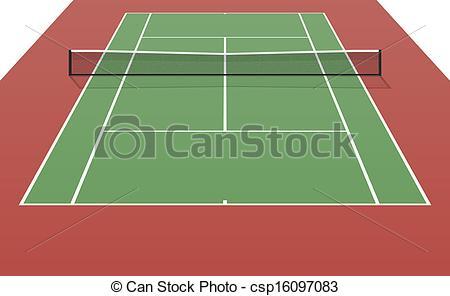 Match clipart tennis court Vector Art  csp16097083 Tennis