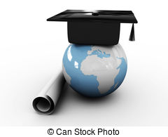 Maters clipart bachelor degree Illustrations Masters globe and art