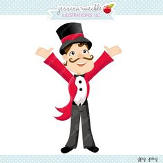 Carnival clipart circus ringmaster White Pinterest and Theme Circus