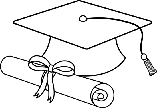 Drawn hat grad #2
