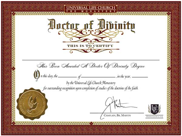 Maters clipart degree certificate Of Divinity Honorary Peter Knox