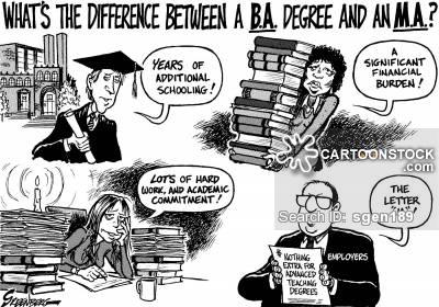 Maters clipart graduate school CartoonStock Degree Masters Cartoons Comics