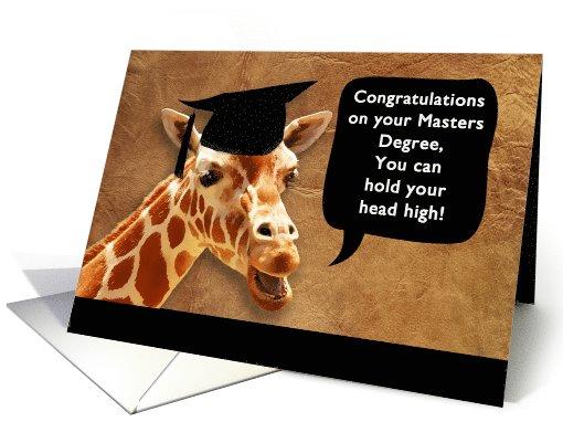 Maters clipart graduate school Giraffe smiling card Degree your