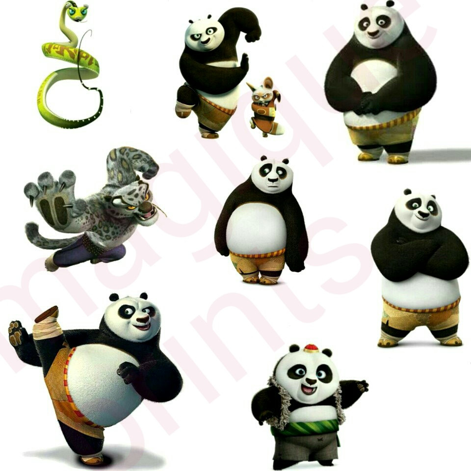 Maters clipart kung fu panda Kung stickers stickers panda planner