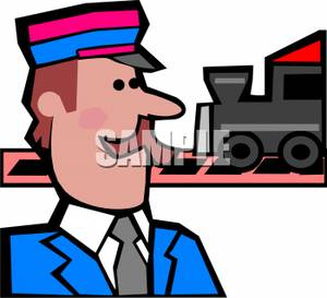Train Station clipart animated Clipart Engineer Panda Train conductor%20clipart