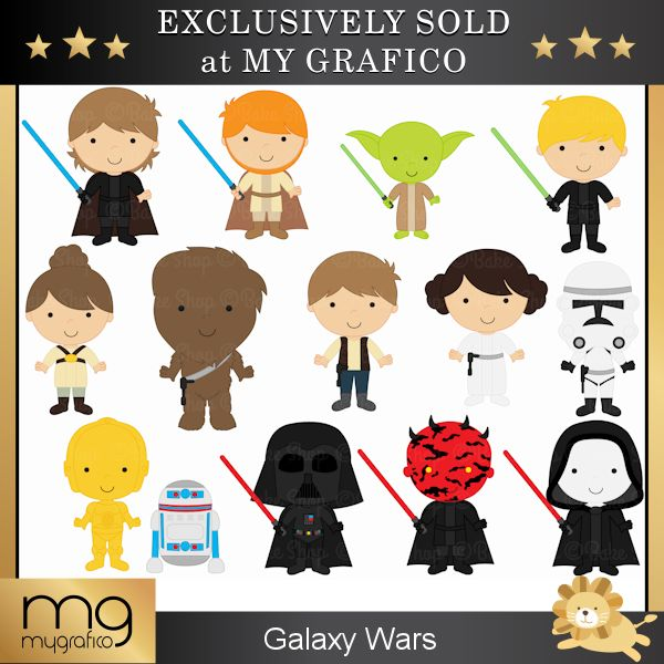 Maters clipart star wars character Inspired images Wars invitations night