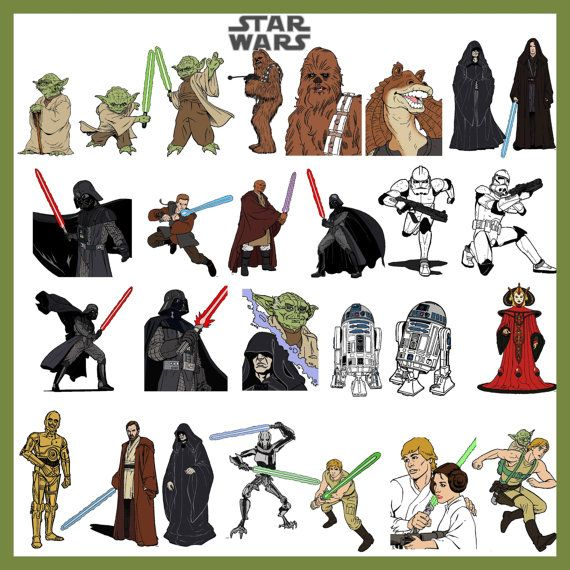Maters clipart star wars character Page Wars TahDahStudio 00 by