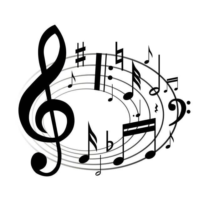 Musical clipart music score Art and some Girl cadences