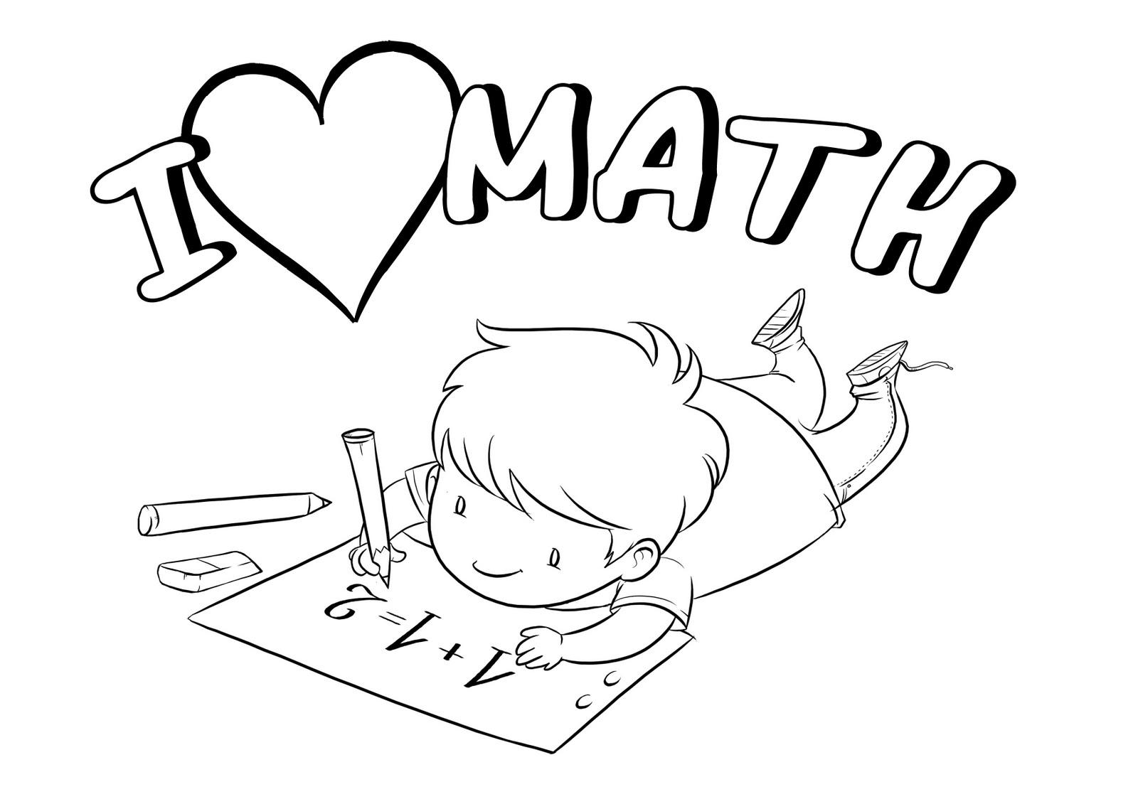 Monochrome clipart math #8