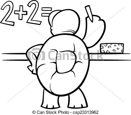 Problem clipart black and white Coloring Art of at Vector