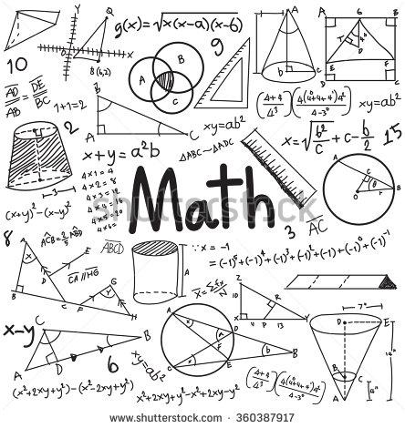 Drawn decoration Formula drawn in and handwriting