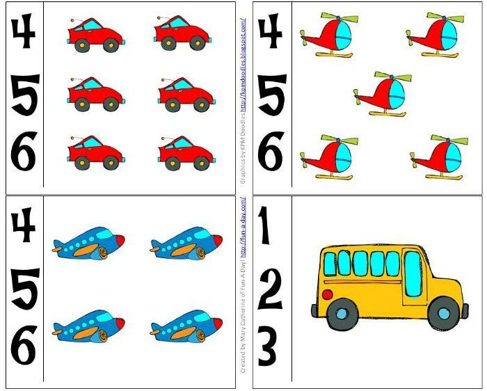 Game clipart preschool Number to theme Preschool transportation