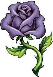 Mauve clipart Mauve rose purple  tattoo