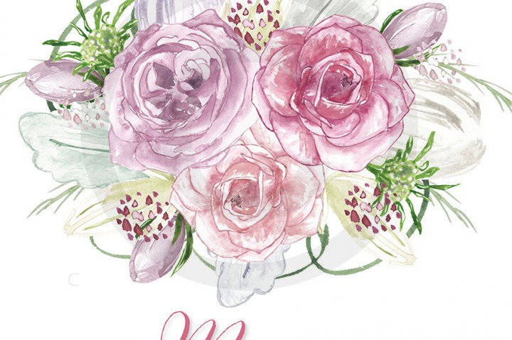 Floral clipart wedding Clipart  Spring Floral flower