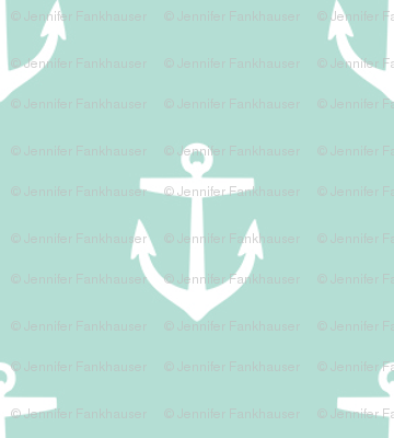 Mint clipart anchor Spoonflower sweetzoeshop fabric Anchors Mint