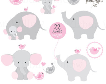 Pink clipart baby elephant Cute making elephant Royalty Free