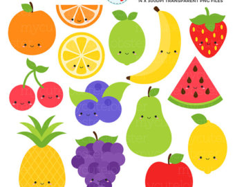 Blueberry clipart cute fruit Etsy apple clips Clipart Fruit