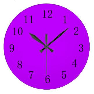 Mauve clipart basketball Color Clock Purple Solid Zazzle