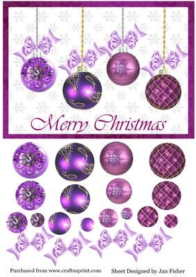 Mauve clipart bauble Purple on Jan on with