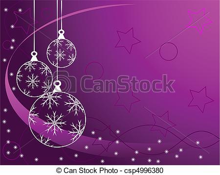 Mauve clipart bauble Purple csp4996380  Christmas Christmas
