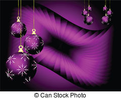 Mauve clipart bauble Abstract Vector Christmas Baubles Clipart
