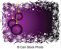 Mauve clipart bauble Baubles An Abstract Clipart Christmas