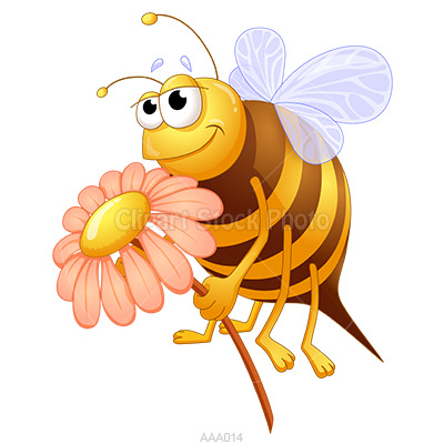 Bees clipart orange Honey Art  painted Art