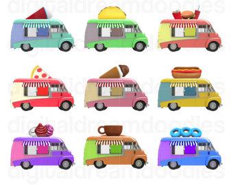 Truck clipart hot pink Dog Truck Pizza Clipart art