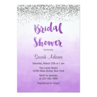Mauve clipart bridal shower Shower Purple Announcements & Purple