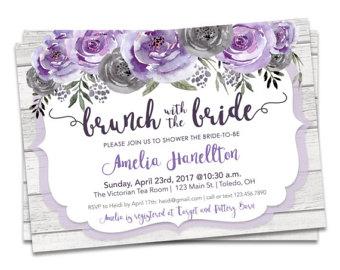 Mauve clipart bridal shower Bridal Bridal Shower Bridal Invitation