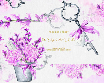 Mauve clipart bridal shower Violet Lavender DIY Shower Vintage