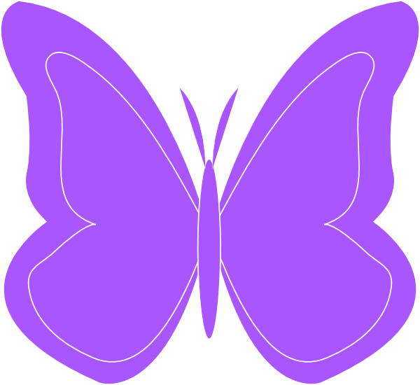Turquoise clipart purple butterfly #2