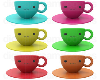 Mug clipart cup plate Mug Digital Download Clipart