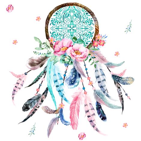 Dreamcatcher clipart pink & custom shopcabin shopcabin Spoonflower