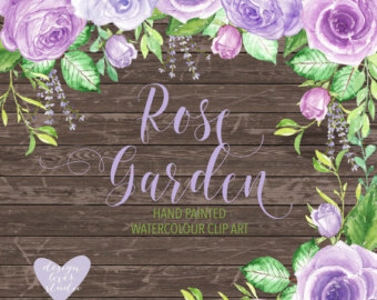 Purple Rose clipart marriage #3