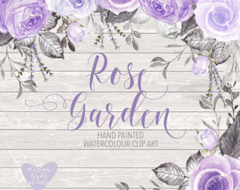 Purple Rose clipart marriage #8