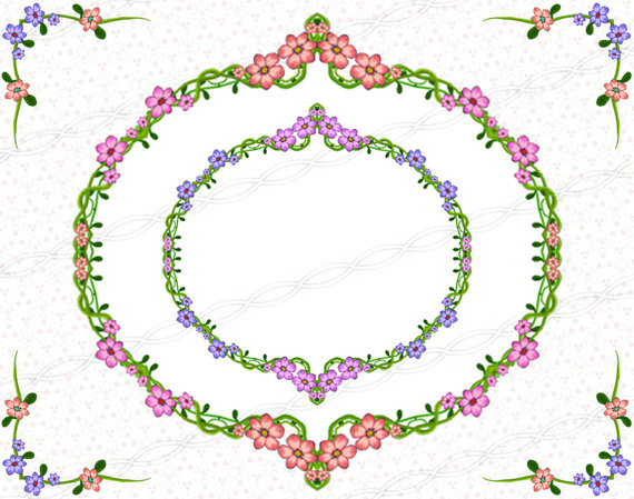 Mauve clipart garland Red bloom red design