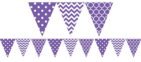 Mauve clipart garland Purple Banners & Purple Confetti