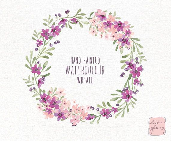 Mauve clipart garland Floral purple ideas / Purple