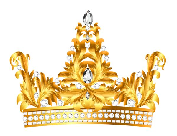 Crown clipart gold king Clipart and PNG Diamonds Decorative