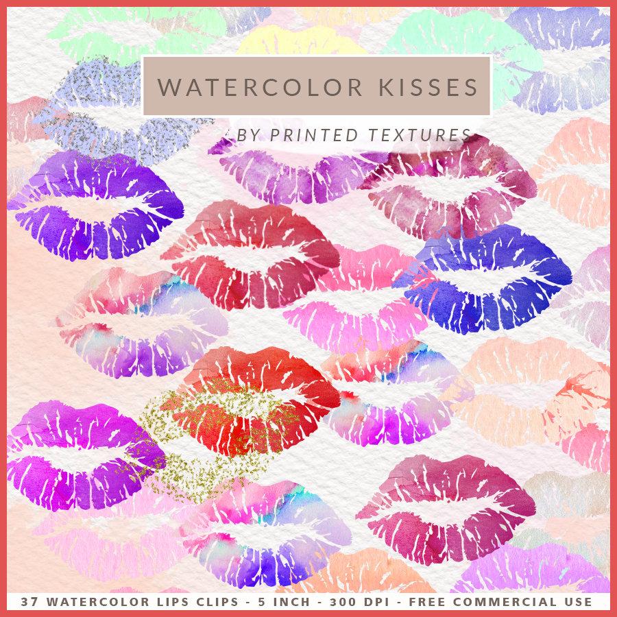 Kisses clipart purple lip A Clipart Kisses Pastel Lips