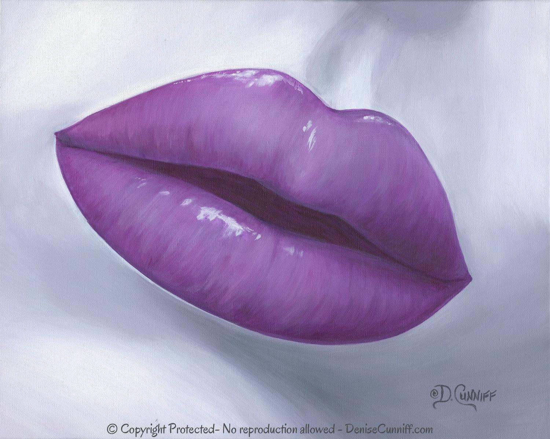 Mauve clipart kiss Gray Purple art artwork Etsy