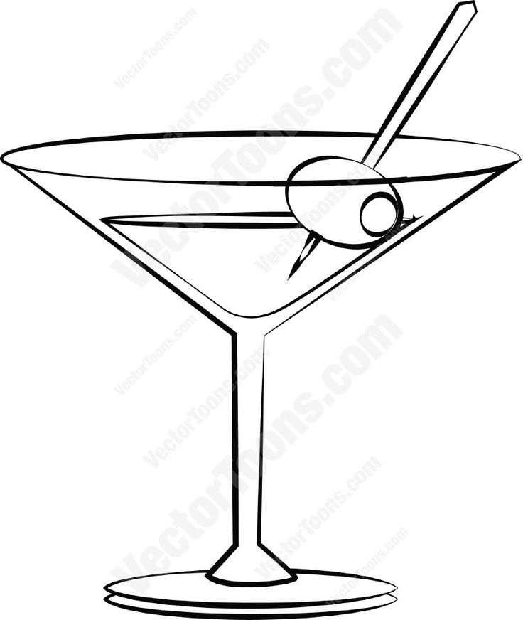 Mauve clipart martini glass Best With on Clipart Martini