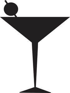 Mauve clipart martini glass Craft Glass  Stencil Martini