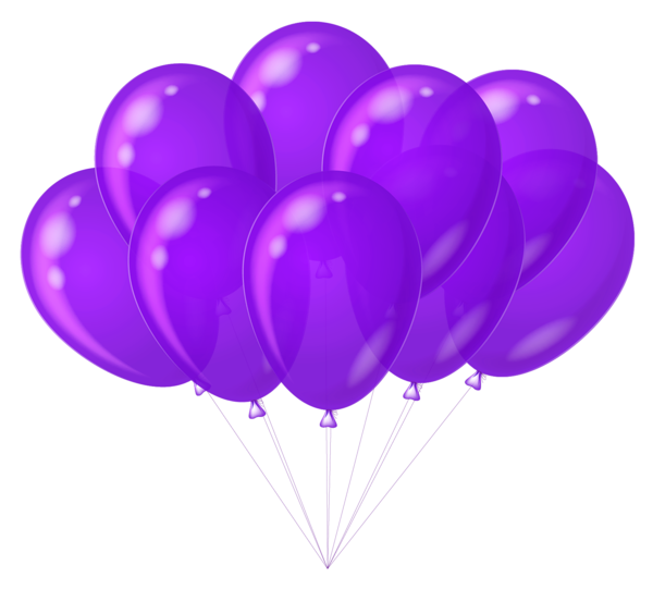 Muffin clipart purple  Balloons Transparent Purple Balloons