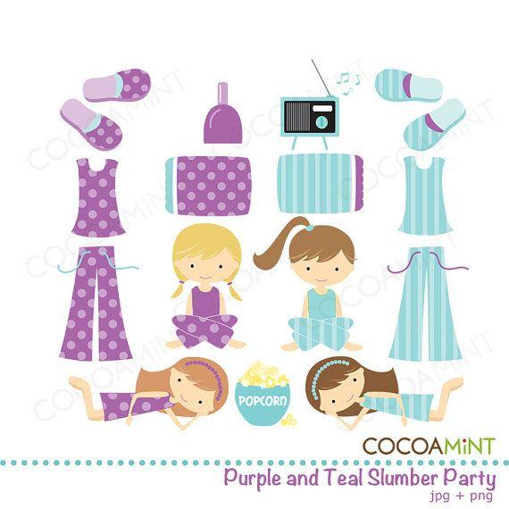 Party clipart pajamas Cocoamint on spa Etsy Art